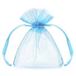 Organzapåsar, ljusblå, 10-pack
