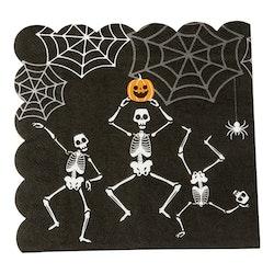Servetter, Halloween, Skelett, 16-pack