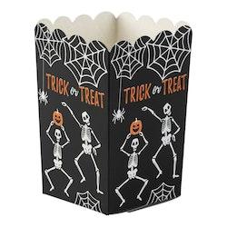 Popcornbox, Halloween, Skelett, 8-pack