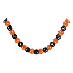 Pappersgirlang, pumpor, svart/orange