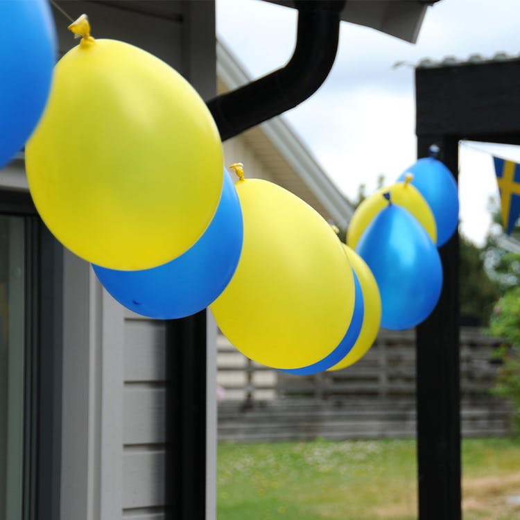 Ballong EKO, gul & blå mix