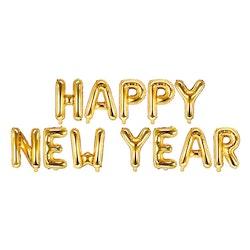 Folieballong, Happy New Year, Guld