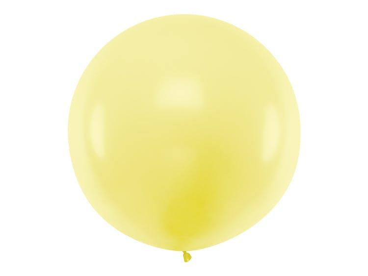 stor gul pastell ballong