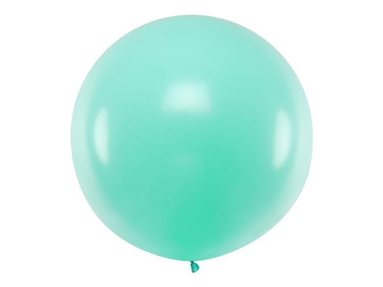 mintgrön stor ballong
