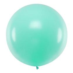 Ballong, jumbo, pastell mintgrön
