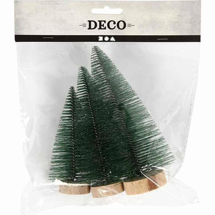 Miniatyrgran, Grön, 3-pack