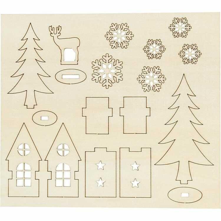 Träfigurer, Jultema