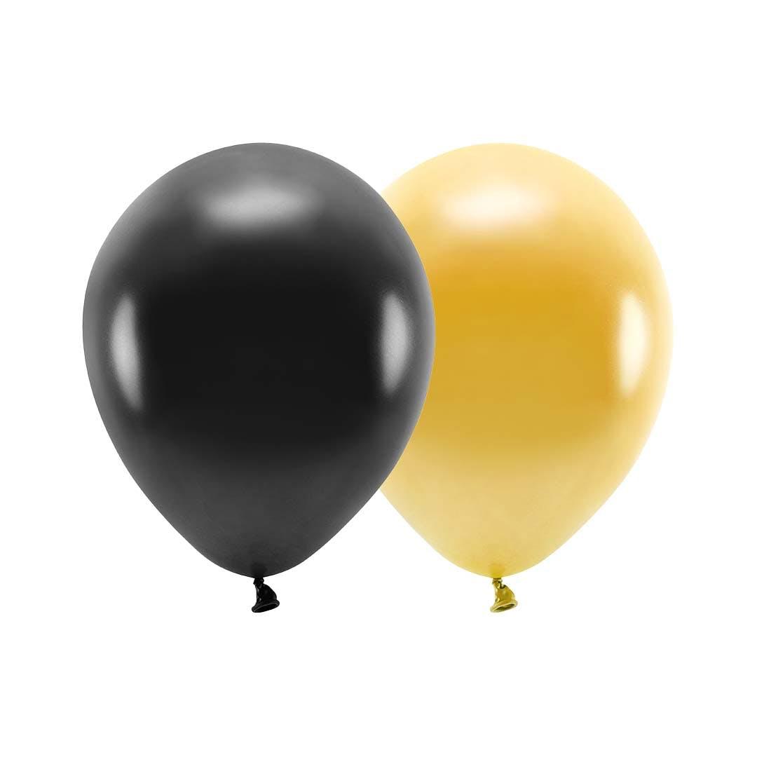ballonger guld svart