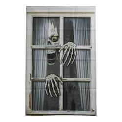 Fönsterdekoration, Halloween, Skelett