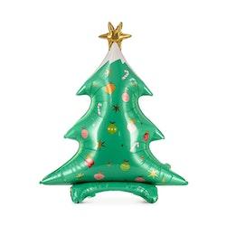 Folieballong, julgran, stående