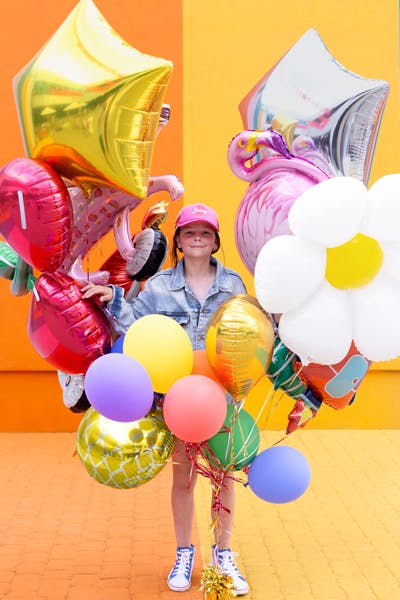 Folieballong, stjärna, stor, guld