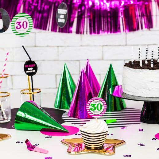 Partytuta, färgmix, 20-pack