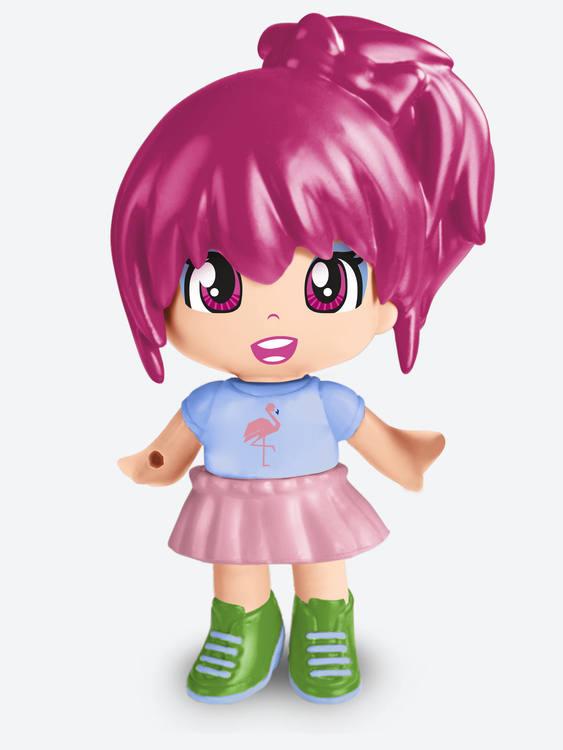 Pinypon Little Head glitter Lila
