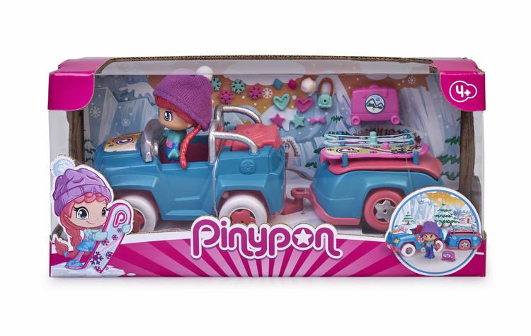 Pinypon skidbil med släp