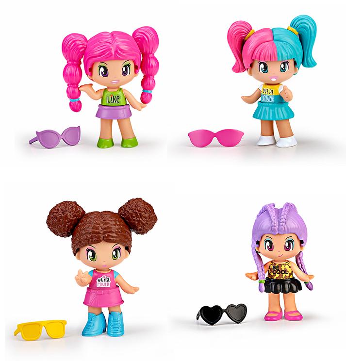 Pinypon New Look Poppy Rosa hår