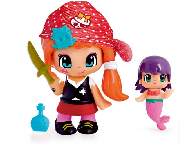 Pinypon Pirat & Sjöjungfru Candy röd sjal