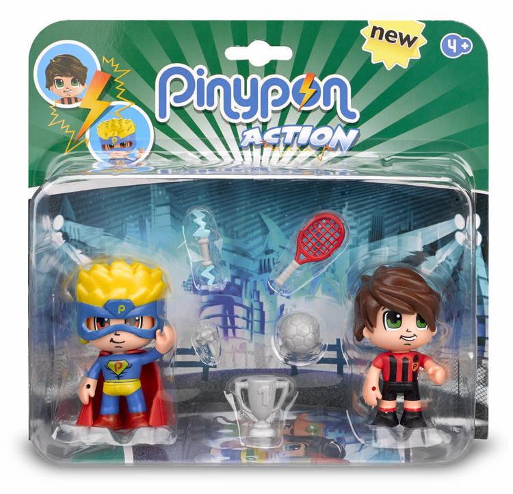 Pinypon Action 2-pack Superhjälte/Fotbollsspelare
