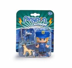 Pinypon Action Poliskvinna med hund