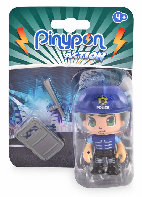 Pinypon Action Räddningsfigur Polis