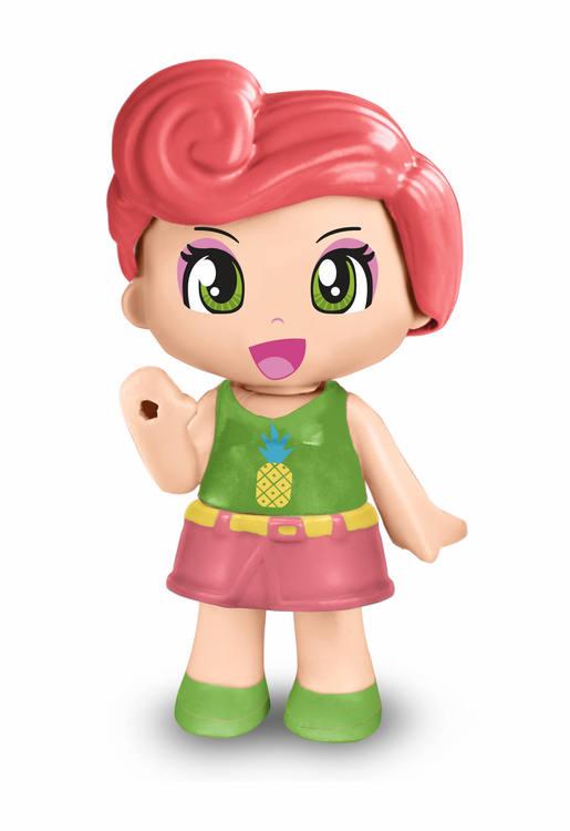 Pinypon Little Head glitter rosa