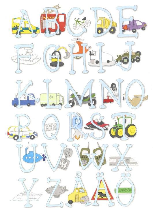 Det blå/fordonsalfabetet