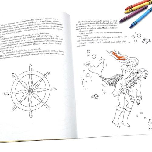 Den lilla sjöjungfrun - Läsa Lyssna Måla