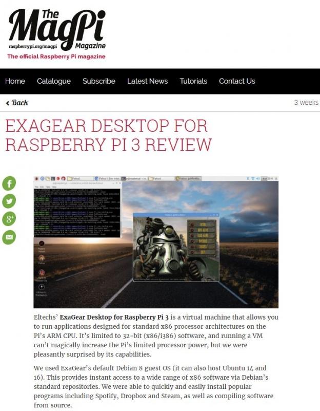 ExaGear Desktop ger dig möjlighet att köra olika Windowsprogram.