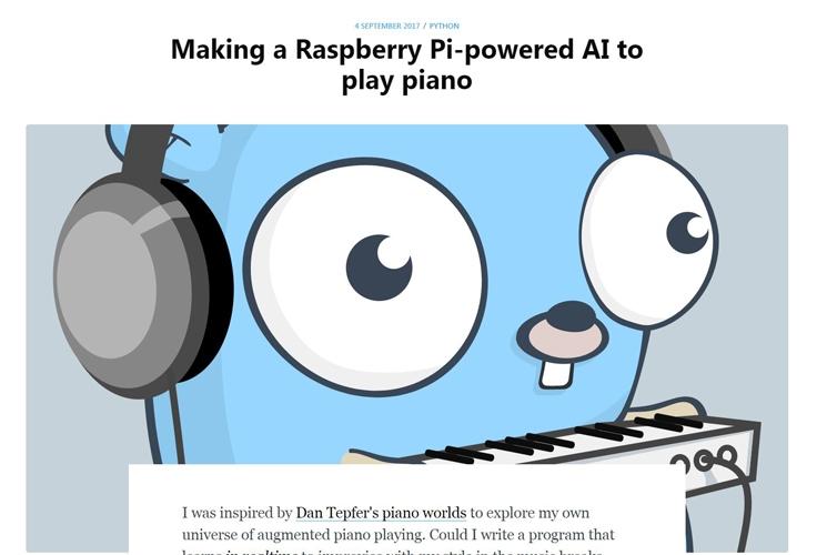 Varför inte spela piano med din Raspberry Pi? :-)