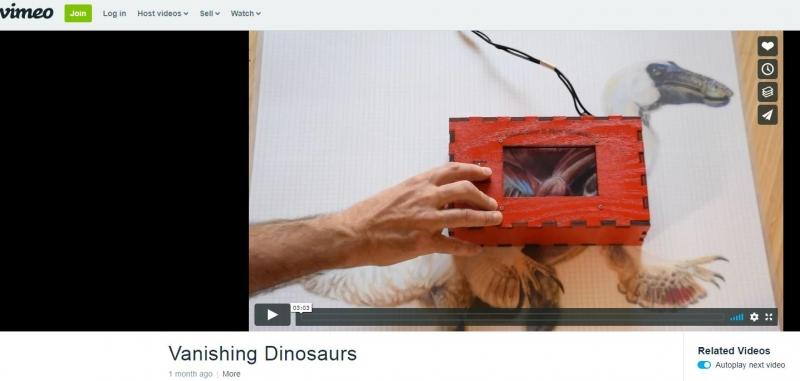 Raspberry Pi kamera och dinosaurie