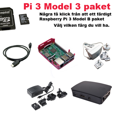 Raspberry Pi 3 Model B startpaket