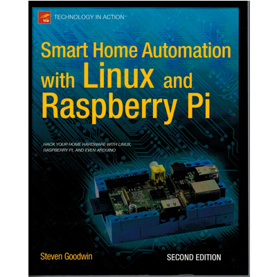 Smart Home Automation with Linux and Raspberry Pi - bild på framsidan av boken