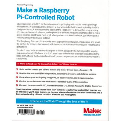 Make a Raspberry Pi-Controlled Robot - bild baksida