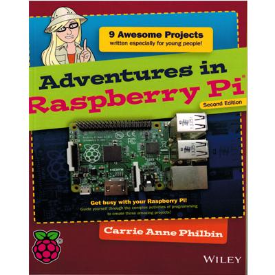 Adventures in Raspberry Pi - projekt för unga Ver 2 - bild på framsidan