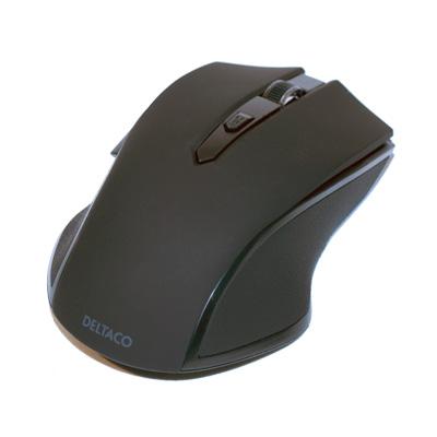 Deltaco trådlös optisk mus - svart