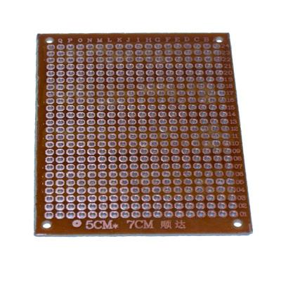 Prototypkort med 276 hål 70 x 51 mm - bild baksida 1