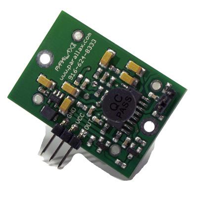 PIR (Passiv Infraröd) sensor på kretskort - bild på baksidan