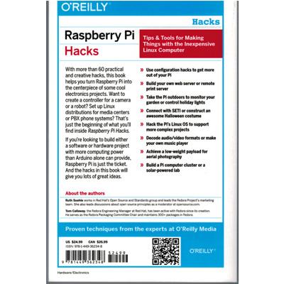 Raspberry Hacks - avancerad bl.a. Mindstrom - bild på baksidan.