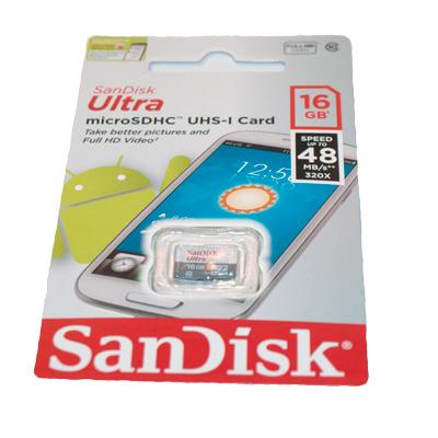 SanDisk Ultra Micro SD-kort 16 GB A1 - bild