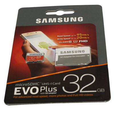 SAMSUNG EVO Plus micro SD kort 32 GB Class U1 4K
