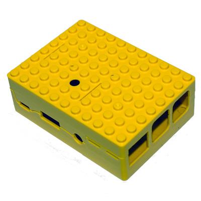 PiBox för Pi 3 i gult - bild