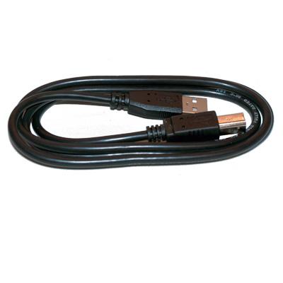 USB-kabel hane A till hane B - Skrivarkabel - svart - bild 1