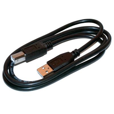 USB-kabel hane A till hane B - Skrivarkabel - svart - bild 2