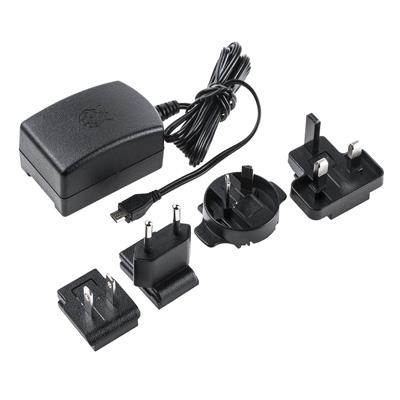 Officiell RPI Power Supply 2,5 A 5 V till RPI 3 Model B - Svart