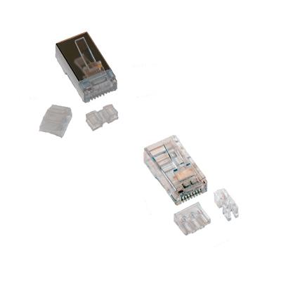 DELTACO RJ45 kontaktdon för patchkabel, Cat6a, 2-pack - bild