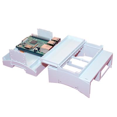 Elektroniskt plasthus för Raspberry Pi och Din-skena - bild - hopmontering pågår