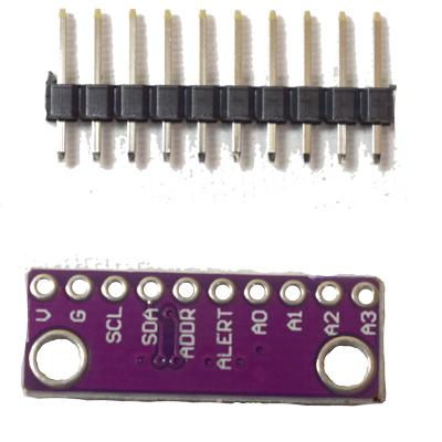 ADS1015 12 bit för I2C-datasignaler för analog till digital precisionsomvandlarmodul - bild baksida av modul