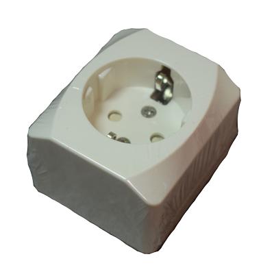Strömuttag - Nova 1-v vit jord - bild framsida 1