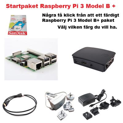 Startpaket för Raspberry Pi 3 Model B+