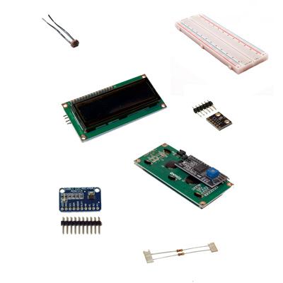 I2C-labbkitt med komponenter och labbmoduler anpassade för I2C datasignal