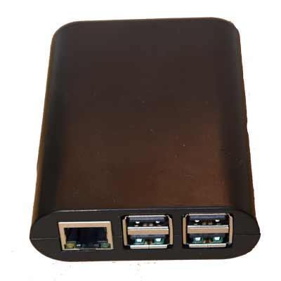 Raspberry Pi låda i svart - passar Pi 3 - Pi 1 B+